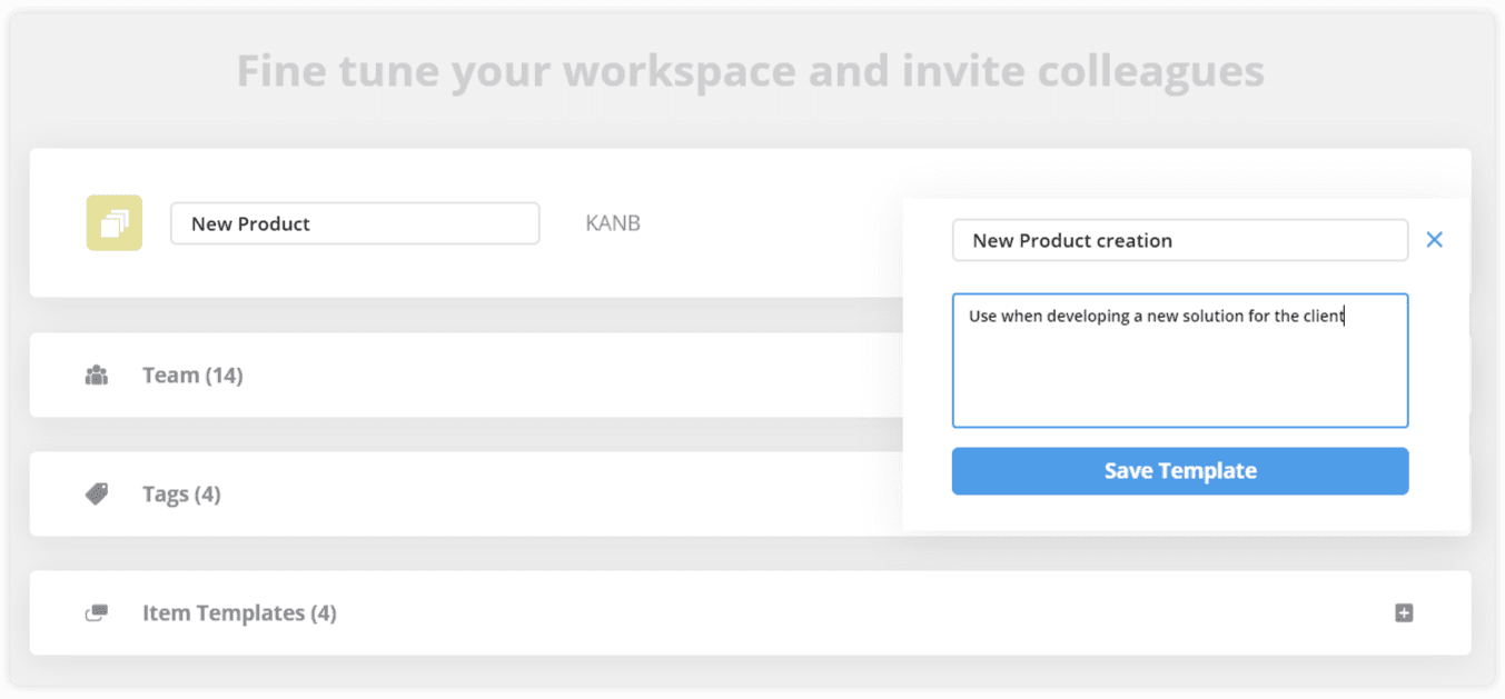 Teamhood workspace template