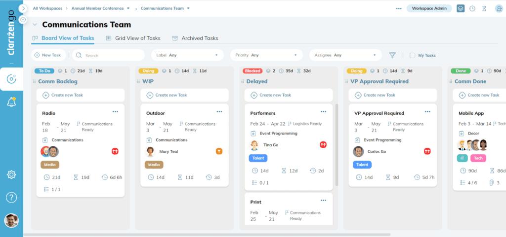 best project management app clarizen