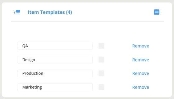 item templates