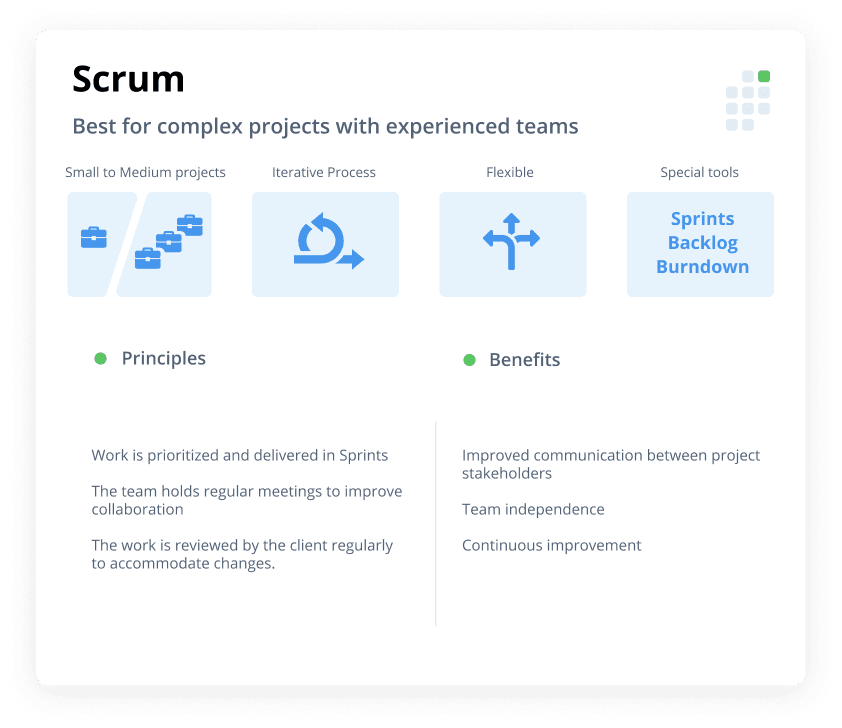 scrum project management cheat sheet